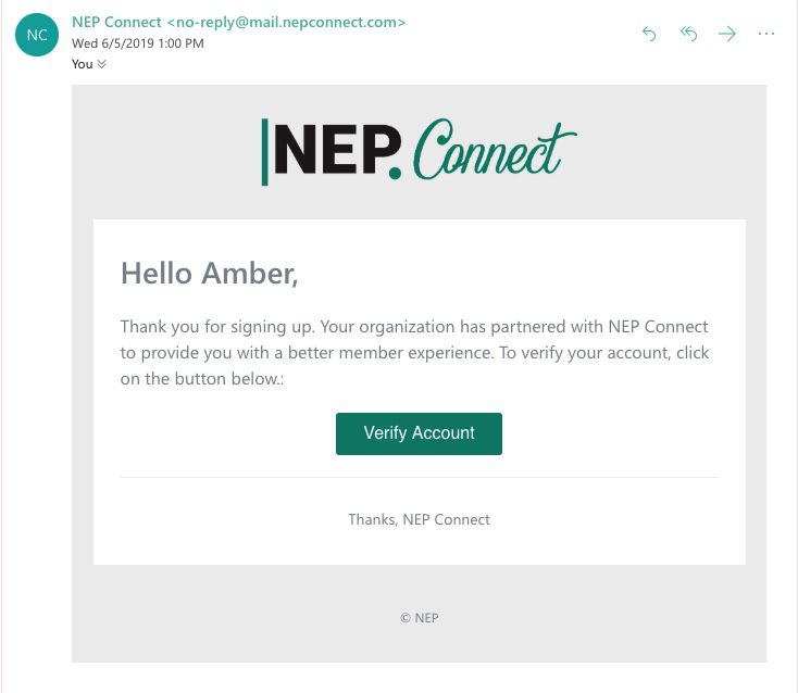 NEP Connect Registration