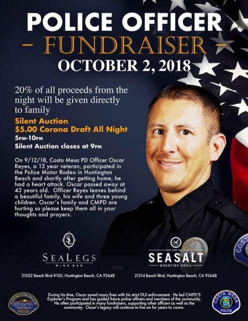 Fundraiser - Officer Reyes