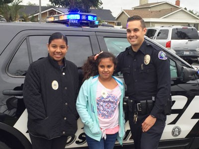 Local Fifth-Grader Wins Ride Along with Costa Mesa Police Officer